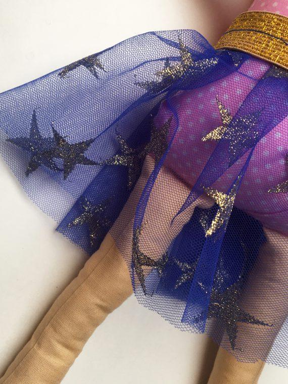 tutu goud blauw sterren pop