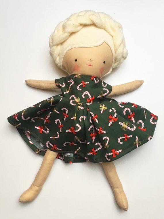 Kerst jurk pop groen