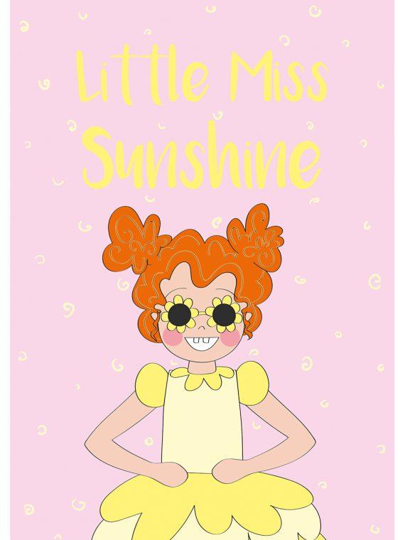 little miss sunshine kaart poster Anne Sara poppenfee
