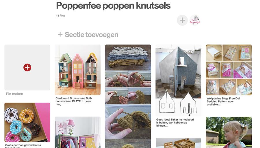 Poppenfee knutsels inspiratie board