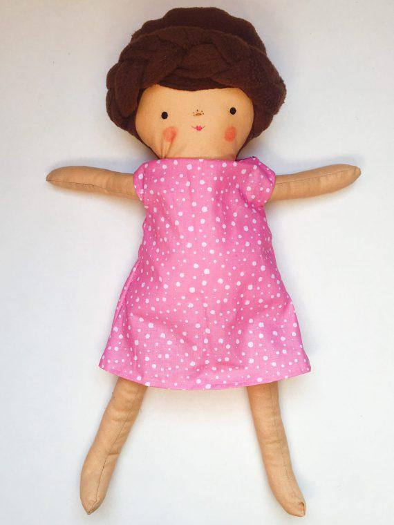 poppenfee jurkje stippen roze pop